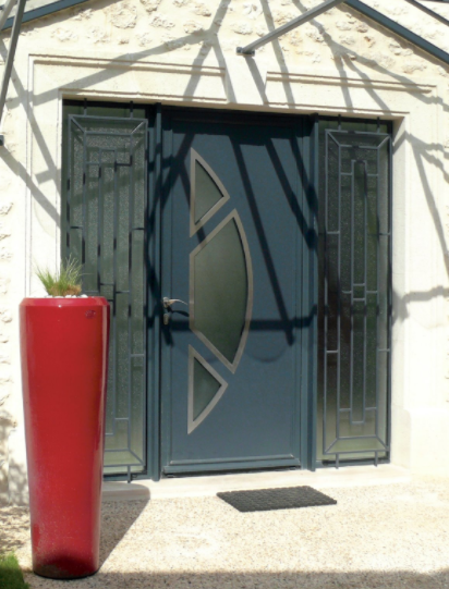 Porte aluminium contemporaine